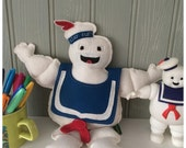 stay puft inspired art doll plush soft doll handmade