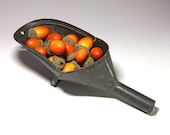 Primitive Extra Large Metal Scoop with Stand - RESERVED FOR CHRIS circa early 20th Century