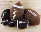 Made to Order: Large Hand-Knit Football with Stripes