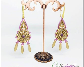 How to make Filigrana earrings pattern, tutorial, pdf file.