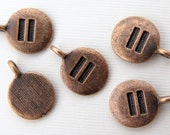 5PCS - Equality Charms - Copper Toned - 17mm - C32
