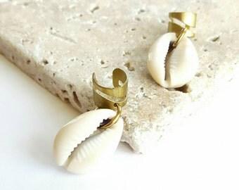 Cowrie shell dreadlock charm- Loc charms- boho braid chains