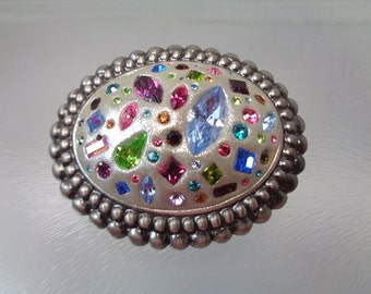 Swarovski Crystal Clay Brooch