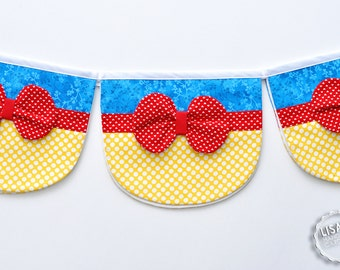 Snow White Inspired Penant Banner, Handmade by Lisa