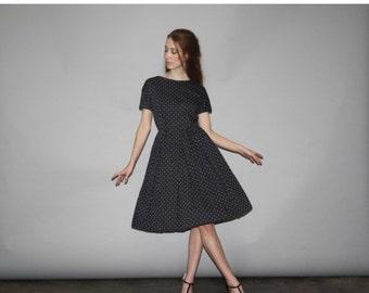 70% Off FINAL SALE - Vintage 1950s  Milgrim Polka Dot Cotton Dress  - Vintage  50s  Dress - Vintage 50s  Dresses  - WD0677