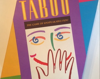 Taboo Game - Vintage game of Unspeakable Fun 1989
