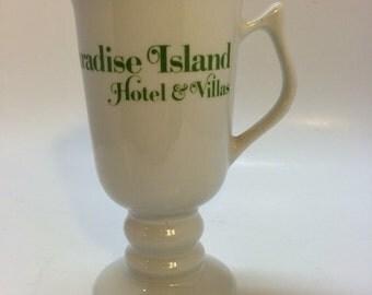Vintage Irish Coffee Mug , Paradise Island Hotel and Villas, Hall China Restaurantware