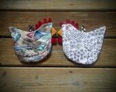 Chicken Potholder, Chicken Hotpad, Hen teapot Trivet