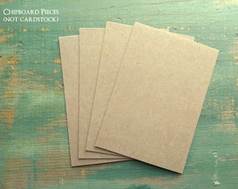 "50 4x6"" Chipboard Pieces: 50pt .050"", 30pt .030"", 22pt .022"" or 20pt .020"" Rustic Kraft Brown Display Cards, for photos/prints  (102x152mm)"