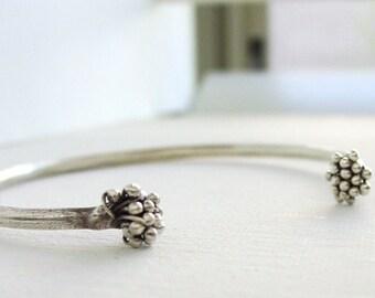 Twisted Branch Cuff Thai Silver Adjustable