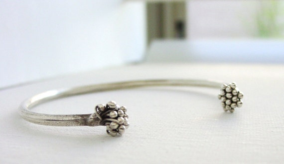 Twisted Branch Cuff Thai Silver Adjustable