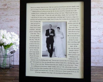 Father of the bride gift, Father of the groom gift, wedding photo mat, personalized photo, personalized photo mat, wedding gift