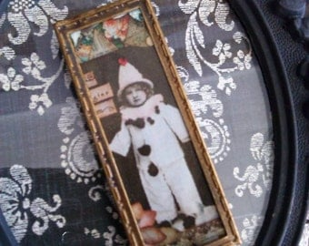 Antique Pin Interchangable picture FREE shipping with additional purchase