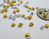50 ULTRA mini - Gold and Silver Origami Lucky Stars