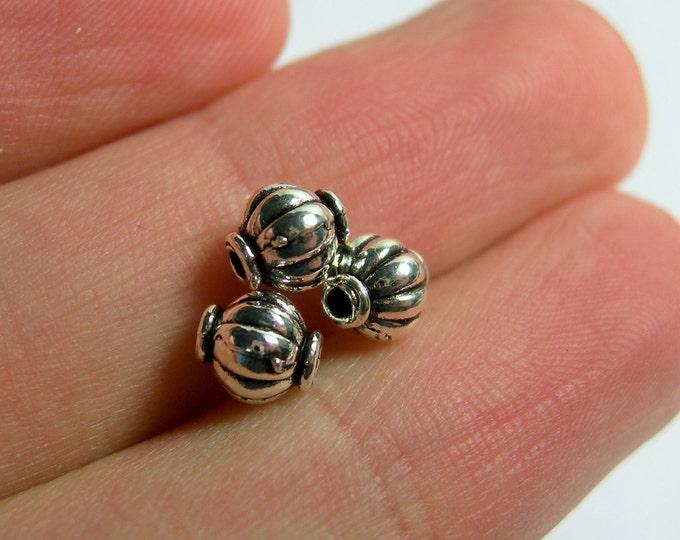 80 pcs Antique style silver tone  beads -  ASA206