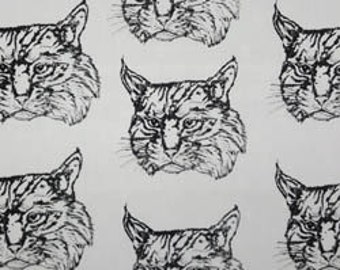 Bobcat Fabric Hot Diggity Dog Novelty Fabric