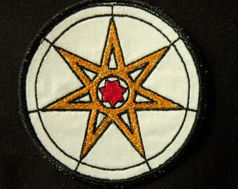 Seven Pointed Star Iron on Patch