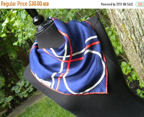 SALE Givenchy Silk Scarf: 1970s Vintage Silk Scarf by Givenchy