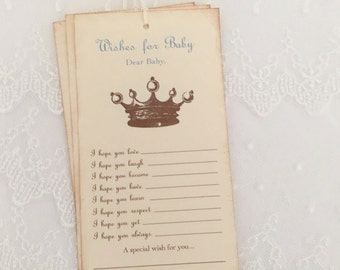 Prince Crown Wishes for Baby Tags Wish Tree Dear Baby Tags