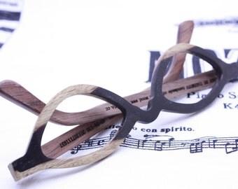 TAKEMOTO two tone ebony  reading glasses prescription eyeglasses  customize MJX1203