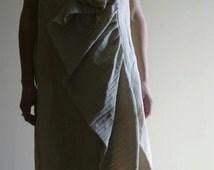 Linen wrap dress by NervousWardrobe on Etsy