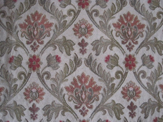Upholstery floral victorian fabric heavy weight 1 5 yard x for Victorian floral fabric