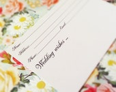 ON SALE 4x6 Heavy Duty Wedding Guest Book Cards - Black and White - Name and Contact Info for Guests