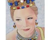 Bejeweled Beauties - Brittany - Mixed Media Artwork - By Toronto Portrait Artist Malinda Prud'homme