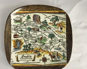 Vintage Royal Pottery Collectors Plate - Indio, Ca (Brown)