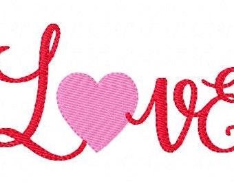 Love Heart Machine Embroidery Design Instant Download Joyful Stitches // Joyful Stitches