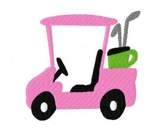 Golf Cart Machine Embroidery Design // Joyful Stitches