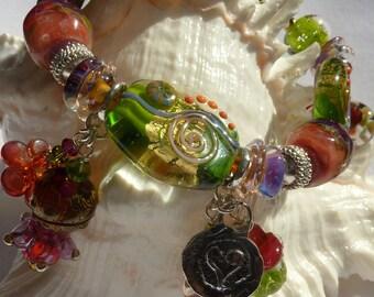 Lampwork Bracelet  FOREST'S SECRETS