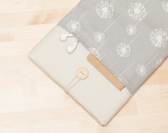 ipad mini case, ipad mini sleeve,  ipad mini cover -  cream dandelion -