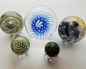 Wholesale Clearance Lot of 5 Flameworked Glass Marbles