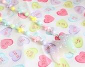 Pastel Kei Kittywood Designs Orginal Melty Bat Necklace Pastel Rainbow