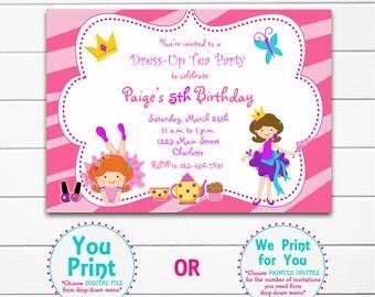 Dress Up Party Birthday Invitation  Dress Up Birthday Invitation