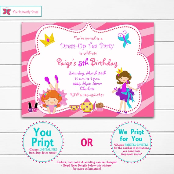 Birthday Dress Up: Dress Up Party Birthday Invitation Dress Up Birthday