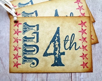 July 4th Tags 1776 Independence Day Americana Primitive Rustic Patriotic