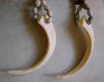 TUSKS - Boar Tusks - Island Necklace - Tusk Necklace - Boar Tusks - Boar Necklace -