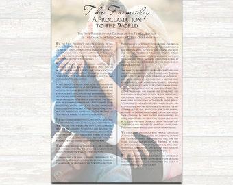 Custom Printable LDS Family Proclamation- single photo