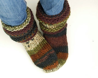 Knitted Slipper Socks - MADE TO ORDER