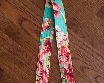 CAMERA STRAP in Amy Butler Love Bliss Teal