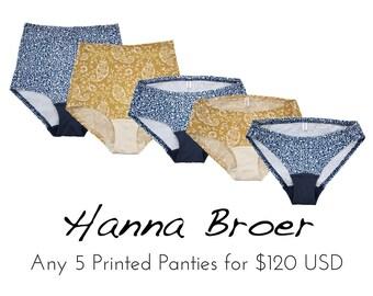 5 PRINTED Panties Combo