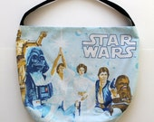 Star Wars Purse or Bag - A New Hope Luke Skywalker Han Solo Purse - Shoulder Bag Style - Upcycled from vintage fabric