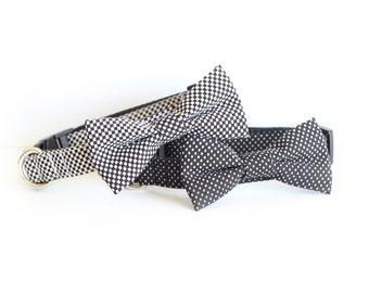 New Color! Dog Bow tie Collar, cat bow tie collar, pet collar, dog collar, bow tie, bowtie for dog, dog wedding collar, ring bearer collar