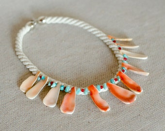 Fabulous shell necklace, natural cord and shells