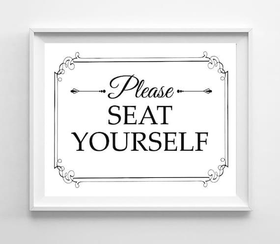 Bathroom Art SEAT YOURSELF 8x10 Digital Design By