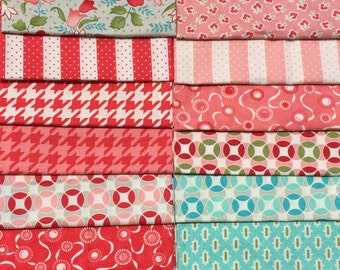 Vintage Modern Bonnie & Camille 14 piece set moda fabric