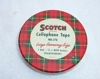 Vintage Scotch Tape Metal Tin