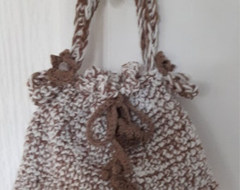 Brown and beige Crochet Bag